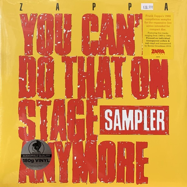 Zappa - You Cant´t Do That On Stage Anymore Sampler Transparent Red & Transparent Yellow Vinyl